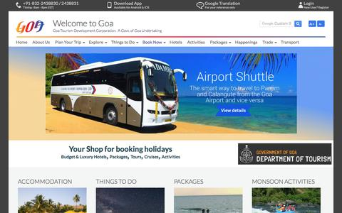 GTDC shop for booking tours budget hotels Holidays in Goa
