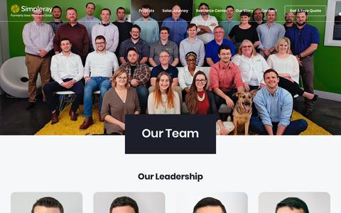 Screenshot of Team Page simpleray.com - Our Team | Simpleray - captured Feb. 8, 2019