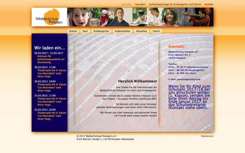 Screenshot of Login Page waldorfschule-potsdam.de - Startseite - Waldorfschule Potsdam e.V. - Waldorfpädagogik in Potsdam - captured March 27, 2017