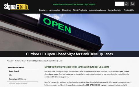 Bank Drive Thru Open Closed LED Signs | Outdoor LED Lighted Open Closed Teller Signs | Bank Lane Open Closed Lights | Signal-Tech