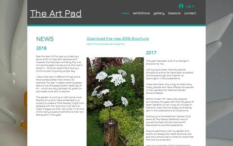 Screenshot of Press Page theartpad.co.uk - theartpad | news - captured Sept. 20, 2018