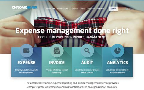 Screenshot of Home Page chromeriver.com - Invoice & Expense Management Solutions - Simplify Today! - captured July 3, 2015