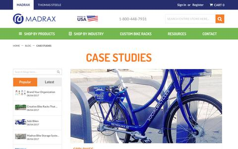 Screenshot of Case Studies Page madrax.com - Case Studies - captured Oct. 4, 2017