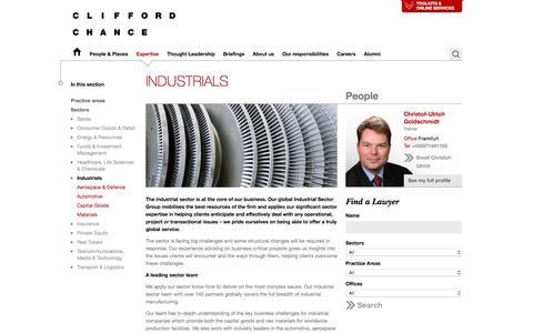 Clifford Chance | Industrials