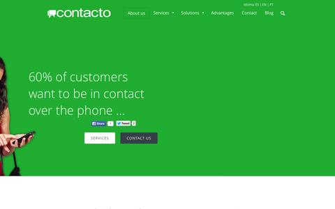 Screenshot of About Page contacto.com.bo - About us | Contacto - captured Oct. 1, 2014