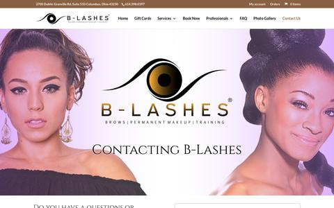 Screenshot of Contact Page b-lashes.com - Contact Us - B-Lashes Permanent Makeup & Beauty Parlor - captured Sept. 13, 2018