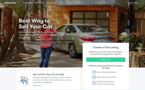 The Best Way to Sell Your Car Online | Instamotor