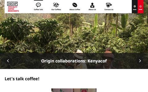 Screenshot of Press Page 32cup.com - Let's talk coffee! - 32cup - captured June 13, 2016