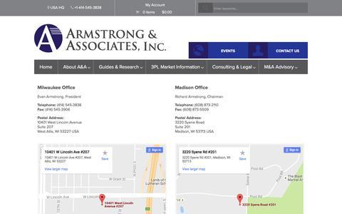 Screenshot of Contact Page 3plogistics.com - Contact UsArmstrong & Associates - captured Oct. 15, 2016