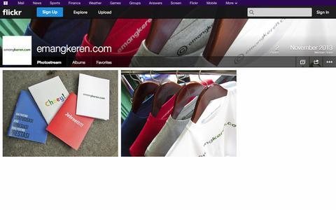 Screenshot of Flickr Page flickr.com - Flickr: emangkeren.com's Photostream - captured Oct. 22, 2014