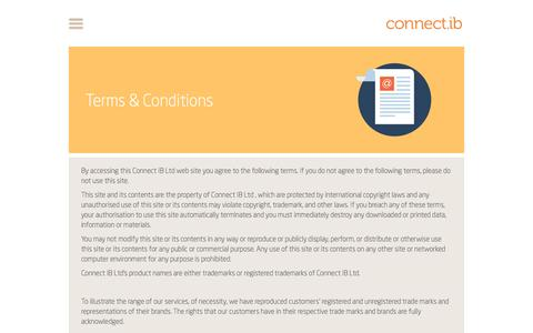 Screenshot of Terms Page connectib.com - Terms and Conditions - captured Dec. 11, 2015