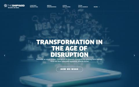 Screenshot of Site Map Page theshipyard.com - The Shipyard | Data Driven Strategy & Digital Marketing | Columbus, OH - captured July 1, 2018