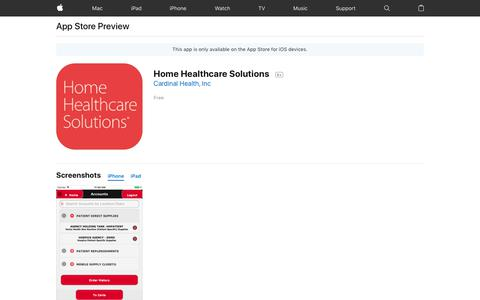 Home Healthcare Solutions on the AppStore