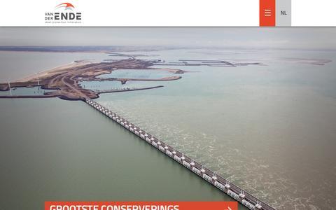 Screenshot of Home Page vanderende.nl - Home - Van der Ende - captured Sept. 5, 2015