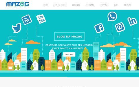 Screenshot of Home Page mazag.com.br - Mazag - Agência de Marketing Digital - captured July 6, 2017