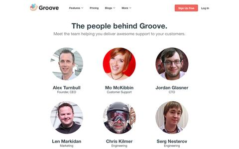 Screenshot of About Page groovehq.com - The People Building Your Help Desk at Groove - captured Dec. 17, 2014