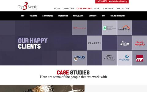 Screenshot of Case Studies Page top3.com.sg - Case Studies - Top3 : Top3 - captured Nov. 18, 2016