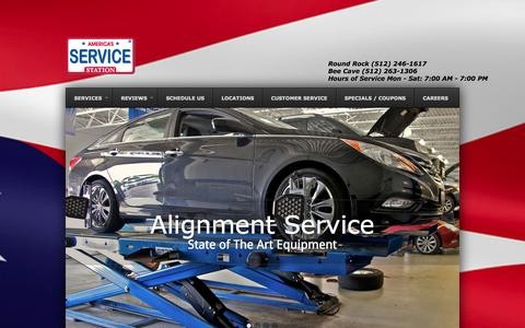 Screenshot of Home Page amssaustin.com - Auto Repair, Vehicle Maintenance, and Oil Changes - America's Service Station - captured Oct. 4, 2014