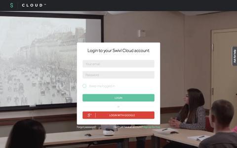 Screenshot of Login Page swivl.com - Sign in - Swivl - captured Feb. 18, 2016
