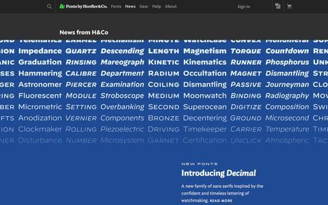 Screenshot of Press Page typography.com - News   Fonts by Hoefler&Co. - captured Nov. 3, 2019