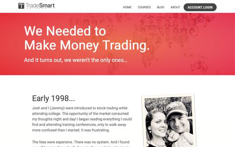 Screenshot of About Page tradesmartu.com - About TradeSmart University - Doubling the Income of 100,000 People - captured June 12, 2019