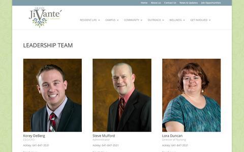 Screenshot of Team Page grandjivante.com - Executive/Leadership | Grand JiVanté - captured June 23, 2016