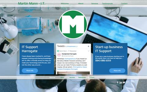 Screenshot of Home Page martinmann.it - Martin Mann - IT Support Harrogate and Start-up business Support - captured Oct. 16, 2018