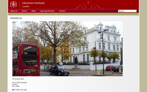 Screenshot of Contact Page ukrainianinstitute.org.uk - Contacts, The Ukrainian Institute in London - captured Dec. 6, 2016