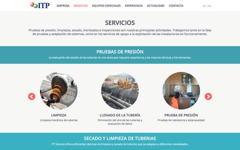 Screenshot of Services Page itpservice.com - ITP SERVICE - Servicios - captured Feb. 11, 2016