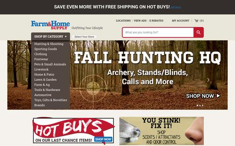 Screenshot of Home Page farmandhomesupply.com - Farm and Home Supply Homepage | Outfitting Your Lifestyle Since 1960 - captured Oct. 1, 2015