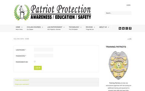 Screenshot of Login Page patriotprotection.net - Patriot Protection - captured Oct. 2, 2014