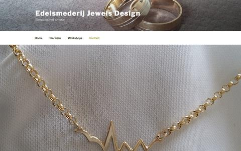 Screenshot of Contact Page jewelsdesign.nl - Contact - Edelsmederij Jewels Design - captured July 25, 2018