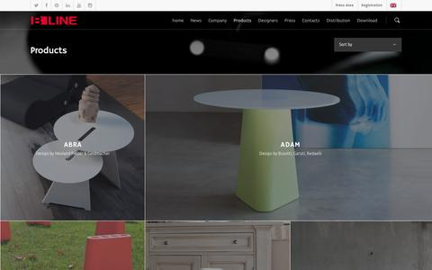 Screenshot of Products Page b-line.it - Made in Italy' designer furniture for indoors and outdoors - captured Nov. 4, 2016