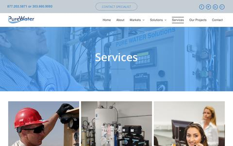 Screenshot of Services Page purewatersolutions.us - Pure Water Solutions   About Us - captured July 24, 2018