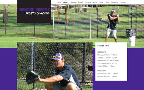 Screenshot of About Page diamonddreams.com.au - About | Diamond Dreams Sports Coaching - captured Oct. 5, 2014