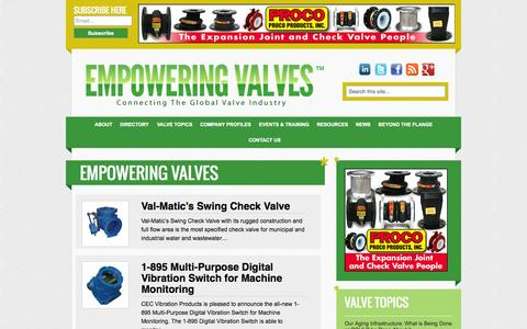 Screenshot of Products Page empoweringvalves.com - Products Archive : Empowering Valves - captured Sept. 30, 2014