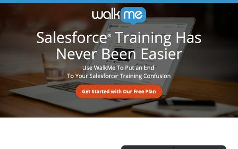 Screenshot of Landing Page walkme.com - Salesforce® Training Has Never Been Easier - WalkMe™ - Digital Adoption Platform - captured Sept. 27, 2018