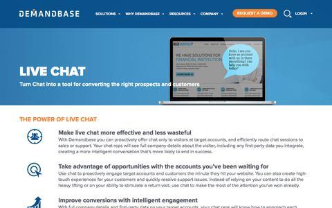 Account-Based Marketing – Demandbase   Live Chat :: Account-Based Marketing – Demandbase