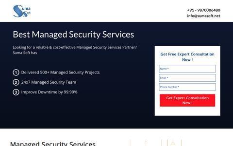 Screenshot of Landing Page sumasoft.com - Managed Security Services - captured Sept. 13, 2017