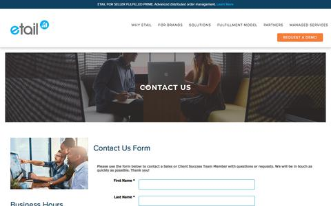 Screenshot of Contact Page etailsolutions.com - Contact Us | Etail Solutions - captured Dec. 8, 2019