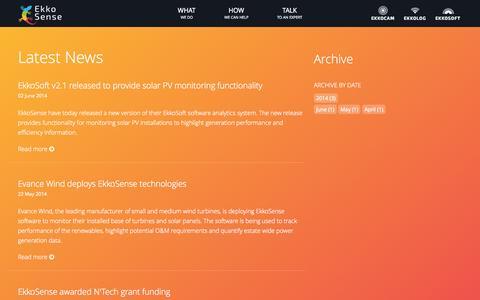 Screenshot of Blog ekkosense.co.uk captured Sept. 29, 2014