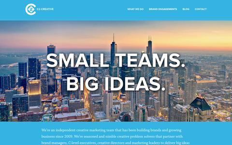 Screenshot of Home Page c2-cc.com - Home - C2 Creative Consulting Ltd. - captured Oct. 1, 2014