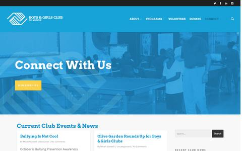 Screenshot of Contact Page bgcmuncie.org - Connect |  Boys and Girls Club - captured Oct. 5, 2014