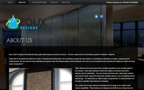 Screenshot of About Page eauxdesigns.com - About Eaux Designs | Eaux Designs - captured Oct. 1, 2014