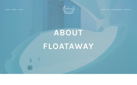 Screenshot of About Page floataway.com - About — Floataway - captured June 6, 2017