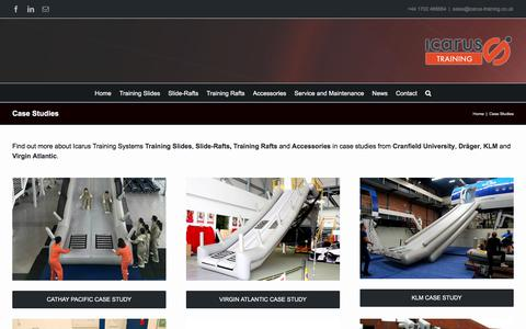 Screenshot of Case Studies Page icarus-training.co.uk - Case Studies | Cabin Crew Training Products | Icarus Training Systems - captured Oct. 14, 2017