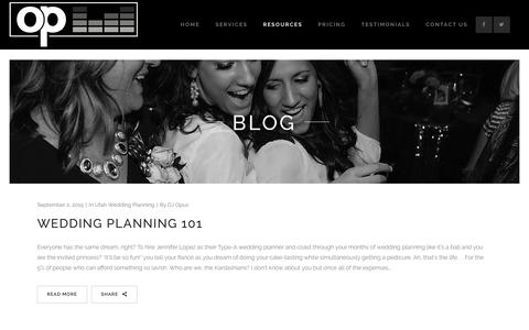 Screenshot of Blog djopus.com - Blog - Opus Productions | 801.866.5122 - captured Nov. 30, 2016
