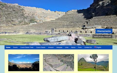 Screenshot of Home Page andesdream.com - Home - Andes Dream - captured Feb. 6, 2016