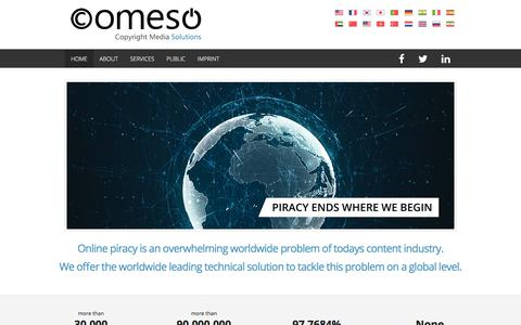 Screenshot of Home Page comeso.org - comeso - Copyright Media Solutions - captured Jan. 14, 2020