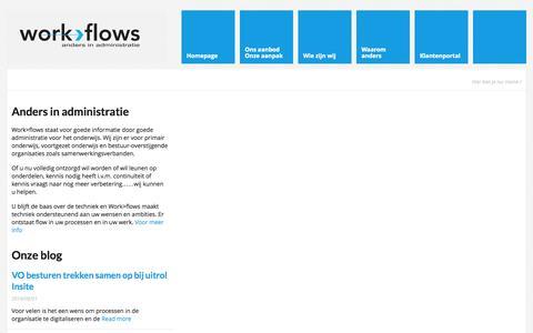 Screenshot of Home Page work-flows.nl - Work-Flows - captured Oct. 9, 2014